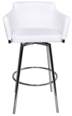Chintaly Dusty White Swivel Barstool
