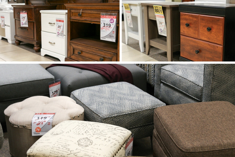Clearance Center Ottomans and Nightstands