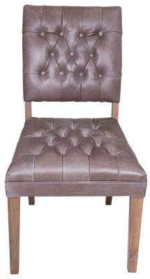 C.M.I. Leather Parsons Chair