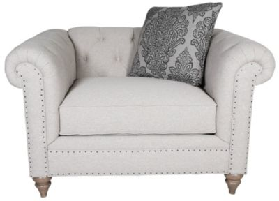 Craftmaster 7432 Collection Chesterfield Chair & 1/2