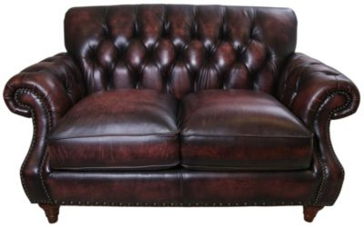 Craftmaster L2877 Collection 100% Leather Loveseat