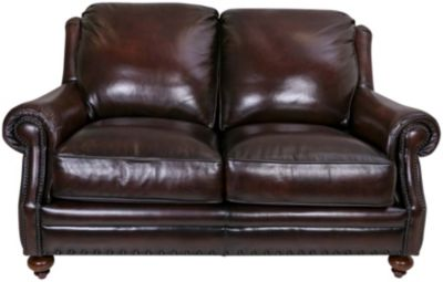 Craftmaster Corbin 100% Leather Loveseat