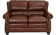 Craftmaster Downey 100% Leather Loveseat