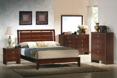 Crown Mark Evan 4-Piece King Bedroom Set