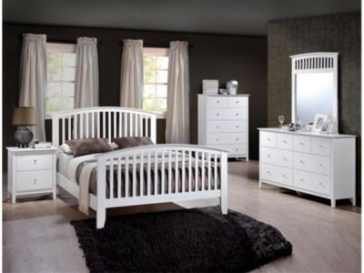 Crown Mark Lawson White 4-Piece Queen Bedroom Set