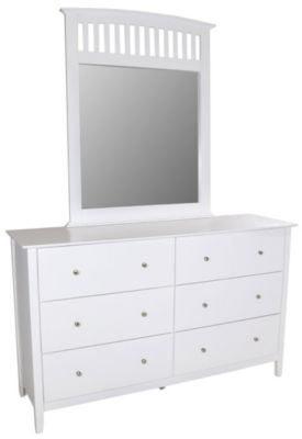 Crown Mark Lawson White Dresser with Mirror