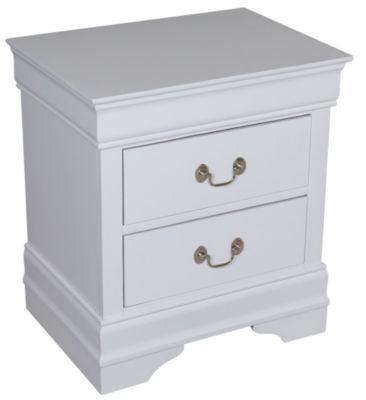 Crown Mark Louis Philippe White Nightstand