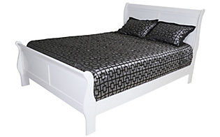 Crown Mark Louis Philippe White Queen Bed
