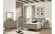 Crown Mark Louis Philippe Gray Mirror