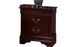 Crown Mark Louis Philippe Cherry Nightstand