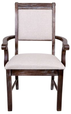 Crown Mark Merlot Gray Arm Chair