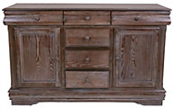 Crown Mark Merlot Gray Buffet