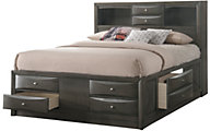 Crown Mark Emily Gray King Storage Bed
