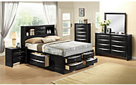 Crown Mark Emily Black 4-Piece King Bedroom Set