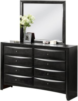 Crown Mark Emily Black Dresser With Mirror
