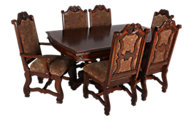 Crown Mark Neo Renaissance 7-Piece Dining Set