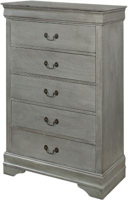 Crown Mark Louis Philippe Gray Chest