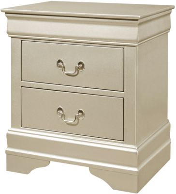 Crown Mark Louis Philippe Champagne Nightstand