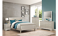 Crown Mark Louis Philippe Champagne 4-Piece Queen Bedroom Set
