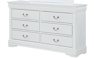 Crown Mark Louis Philippe White Dresser