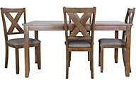Crown Mark Clara 5-Piece Dining Set