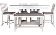 Crown Mark Nina White 6-Piece Counter Set