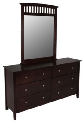 Crown Mark Lawson Dresser with Mirror
