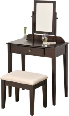 Crown Mark Iris Vanity with Bench