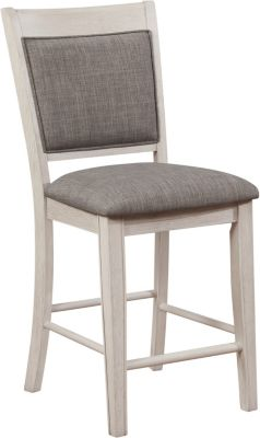 Crown Mark Fulton White Counter Stool