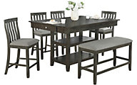 Crown Mark Nina 6-Piece Dining Set