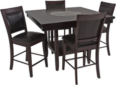 Crown Mark Harrison 5 Piece Counter Height Dining Set