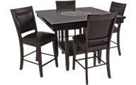 Crown Mark Harrison 5-Piece Counter-Height Dining Set