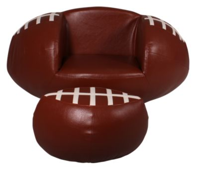 Crown Mark Football Chair & Ottoman
