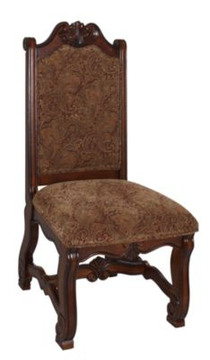 Crown Mark Neo Renaissance Upholstered Side Chair