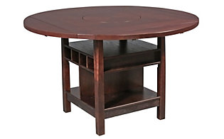 Crown Mark Conner Counter-Height Table with Wine Storage