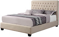 Coaster Chloe King Cream Upholstered Bed