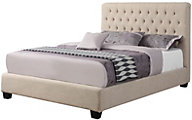 Coaster Chloe Queen Cream Upholstered Bed