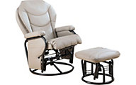 Coaster Rockford Glider Chair & Ottoman