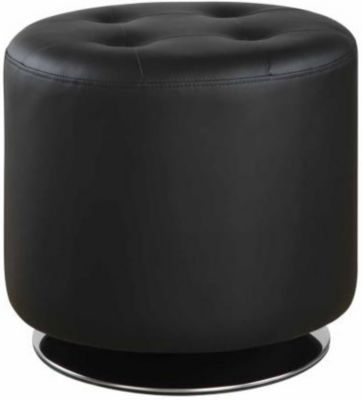 Coaster 500 Collection Black Swivel Ottoman