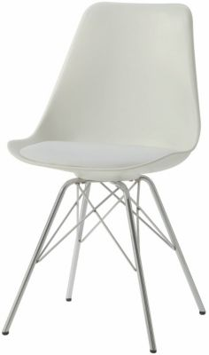 Coaster Broderick White Side Chair