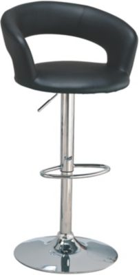 Coaster Black Adjustable Bar Stool