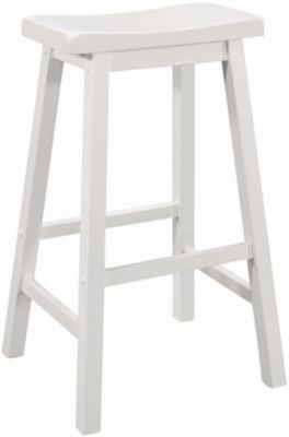 Coaster Everyday White Barstool