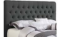 Coaster Chloe Charcoal Upholstered Twin Headboard