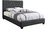 Coaster Chloe Charcoal Upholstered Queen Bed