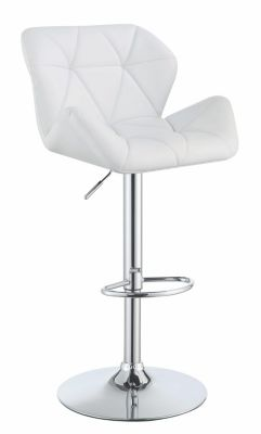 Coaster Everyday White Adjustable Barstool