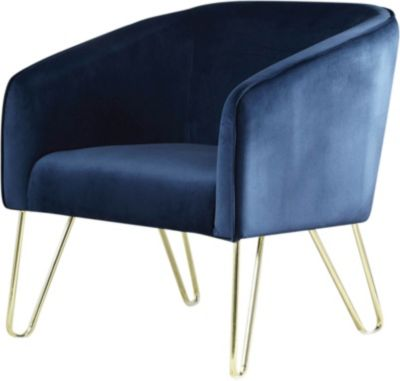 Coaster 905C Collection Blue Accent Chair