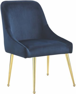 Coaster Steele Blue Velvet Side Chair