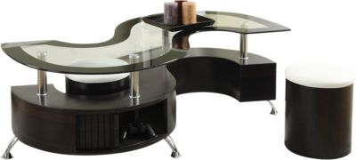 Coaster 720 Collection Coffee Table with 2 Stools