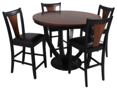 Coaster Boyer Counter Table & 4 Stools