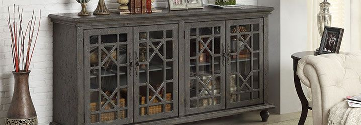 accent cabinets and storage chests